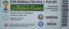 TICKET 19.11.2013 Romania Romania-Greece Grecia
