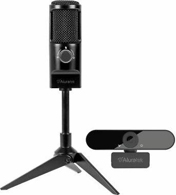 Aluratek Rocket USB Microphone/Webcam Streaming Bundle