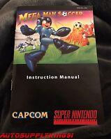 Mega Man Soccer (super Nintendo, Snes) Game Custom Art Instruction Manual Only