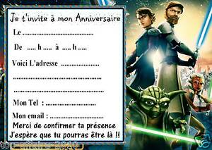 5 cartes invitation anniversaire star wars the clone wars 01 ebay. Black Bedroom Furniture Sets. Home Design Ideas