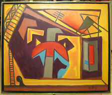 Harold Le Roy 1970s Modern Eames Era Abstract Listed New York Artist