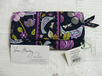 Vera Bradley Floral Nightingale Gallery Wallet Clutch Tri-fold 4 Purse Tote