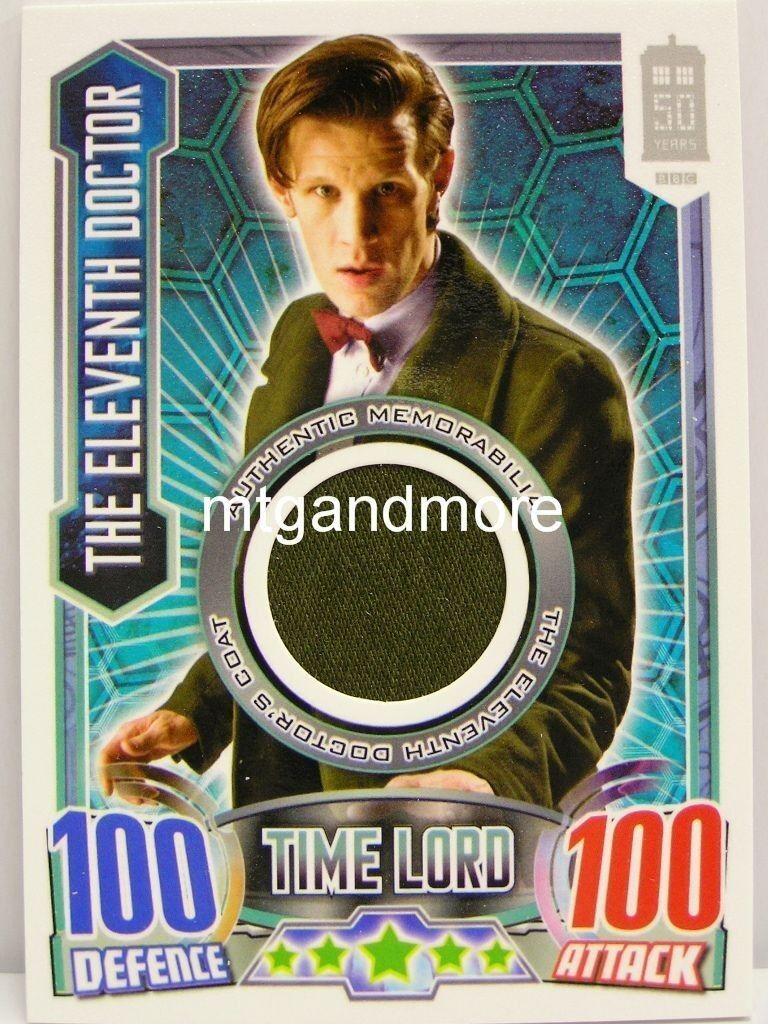 The Eleventh Doctor 's - Coat - Authentic Memorabilia - Alien Attax Doctor Who