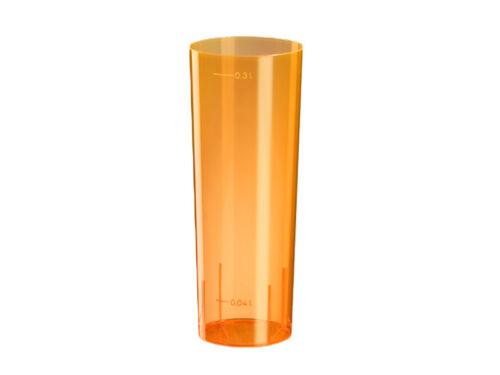 21844 50 Longdrinkgläser PS Einweg orange 300 ml Kölschgläser Biergläser