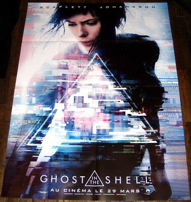 Ghost In The Shell Scarlett Johansson Masamune Shirow Large French Teaser Poster Ebay