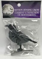 Black Crow Motion Sensor Sensing Realistic With Sounds Clip On 3 Inch