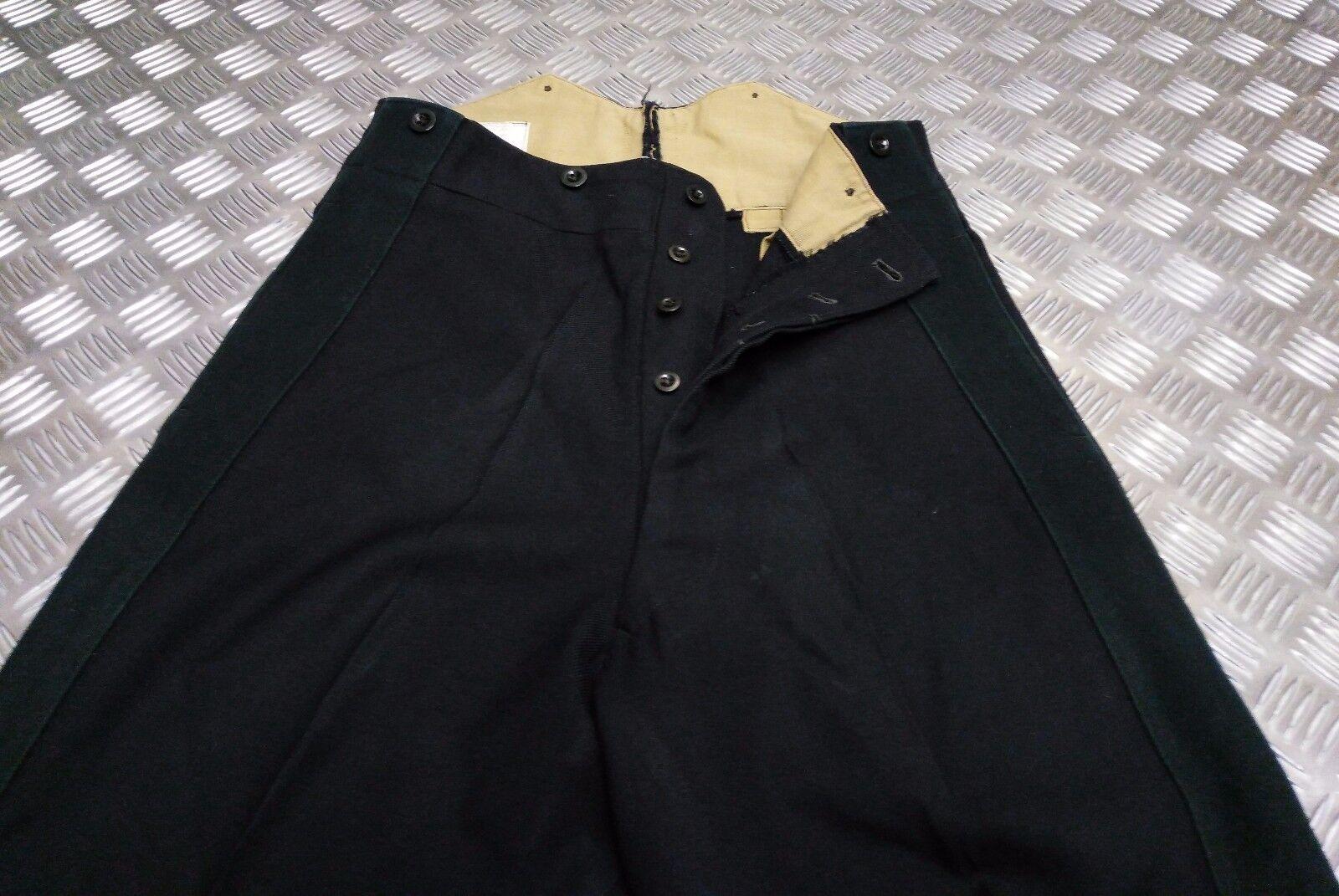 Genuine Vintage British Army No1   Cavlary Dress Trousers nero or verde Stripe