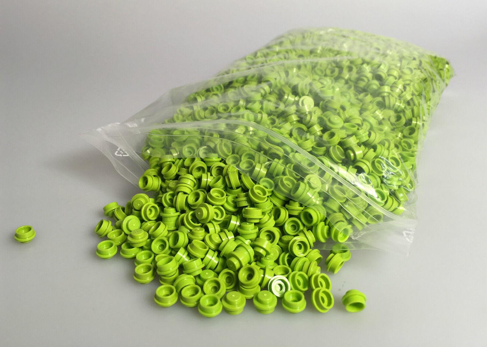 LEGO® Neuware 3000x Runder Stein 1x1 in lime grün Grün 4073 Modular Häuser MOCs