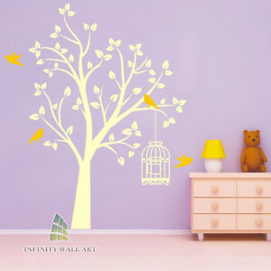 Stylish-Birds-Tree-Wall-Art-Stickers-Tree-Wall-Decal-Decal-Stickers-PD147