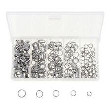 200PCS Stainless Steel Fishing Split Rings Tackle Swivel Snap Fish Connector