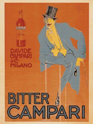 Bitter Campari 1921 by Enrico Sacchetti 32x24 Vintage Liqueur Apéritif Art Print