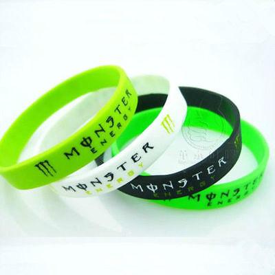 4 Colors Unisex Charms Fashion Silicone Rubber Sports Bangle Bracelet Wristband
