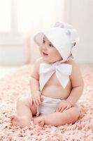 Mud Pie White Traditional Baby Bonnet Hat Easter Pictures Portrait Infant
