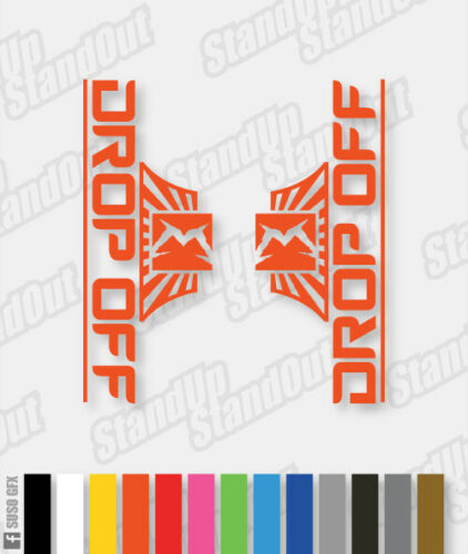 Stickers Custom Fluorescent Colours Marzocchi 2014 Style Drop Off Decals