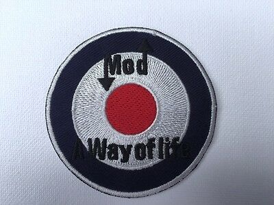 Iron On// Sew On Embroidered Patch Badge MOD Trojan Target Circle Roundal RAF
