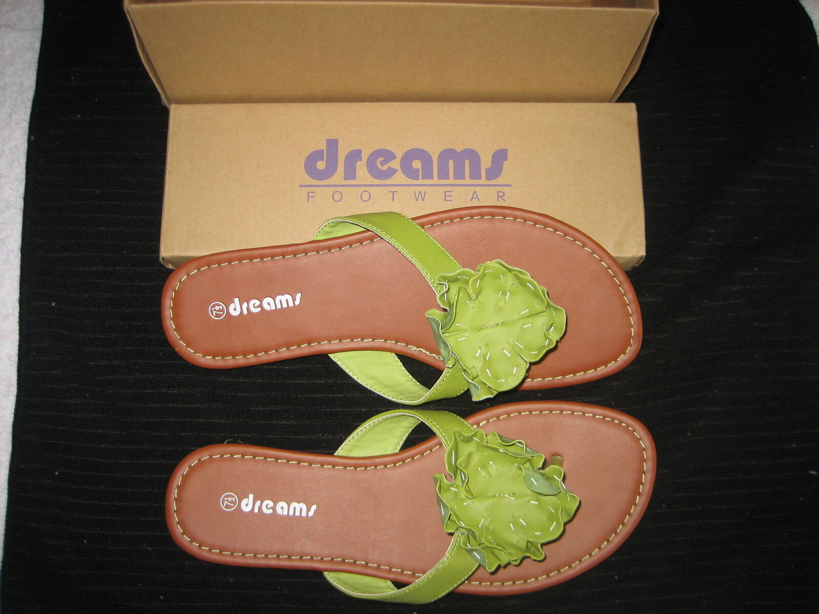 Man's/Woman's DREAMS FOOTWEAR FLIPFLOPS design .SIZE 7.5 M Good design FLIPFLOPS Stylish and charming a wide variety of goods e67be6