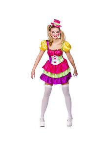 ... Adulte-Mignon-Clown-Costume-Fantaisie-Robe-Costume-Carnaval-  sc 1 st  eBay & Adult Cute Clown Outfit Fancy Dress Costume Circus Carnival Ladies ...
