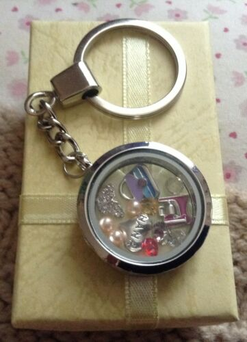 Family Wedding Baby Theme Living Memory Locket Pre-Filled With Floating Charms