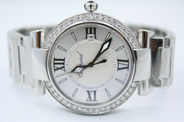 NEW CHOPARD IMPERIALE 36MM STAINLESS STEEL DIAMOND ENCRUSTED WATCH 388532-3002