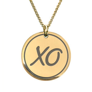Xo kiss 18 k gold plated laser engraved pendant necklace for men image is loading xo kiss 18 k gold plated laser engraved aloadofball Gallery