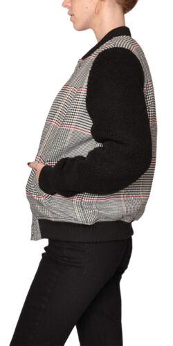 Jacket Med Ermer Femte Bomber Etiket Plaid Sherpa Houndstooth Oqn0wIXR0