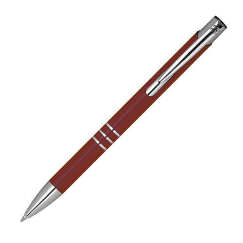 10 Kugelschreiber aus Metall Farbe bordeaux