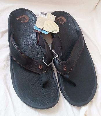 OLUKAI Flip Flops - Ohana Leather - Retail Surplus - Mens Size 18