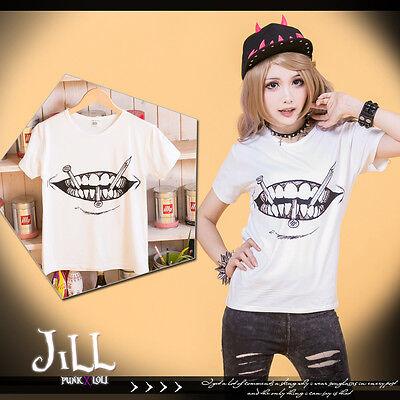 japan anime street Junji Ito Souichi's curse mouth motif unisex tshirt J1Y0008