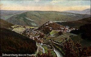 Schwarzaburg-Thueringen-AK-1910-Blick-vom-Trippstein-Verlag-Thomass-ungelaufen