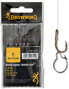 Browning feedervorfach Trophy Poisson Taille 14 0,22 mm 75 cm avec madenclip