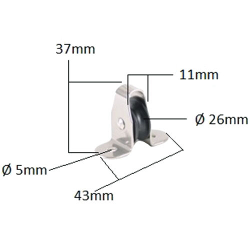 Umlenkrolle Stehblock für Seil  4-8 mm je 2 Stück Edelstahl Seilführung
