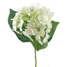 Hortensie Zweig creme 3 Blätter, L= 28cm Ø 12cm, Seide Kunststoff !!!