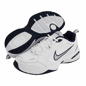 18598171 Nike AIR MONARCH IV Mens White Silver Navy 102 Lace Up Running ...