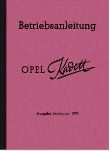 Opel-Kadett-1937-Bedienungsanleitung-Betriebsanleitung-Handbuch-Owners-Manual
