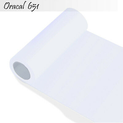 Plotterfolie Schneidplotter Oracal 651 Orafol Folie 31 cm x 5m weiß glanz