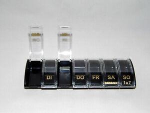 Pillendose-Tablettendose-7-TAGE-Pillenbox-Tablettenbox-ANABOX-7-Faecher