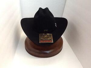 50X STETSON HAT BEAVER FUR-El Campeon BLACK-NEW W Tag-NO TAX SELL+ ... 8cdc85444a0