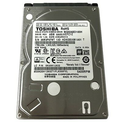 "Toshiba SSHD 1TB Solid State Hybrid Hard Drive 2.5"" SATA III 5400RPM MQ02ABD100H"