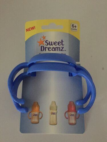 Baby Easy To Grip Handles For Bottles /& Cups By Sweet Dreamz 6M 2pack Blue New