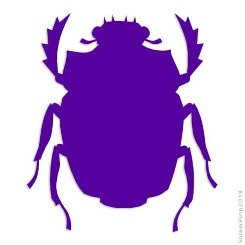 Scarab Beetle Insect Decal Sticker Choose Color Size #596