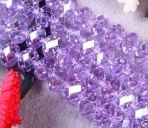 300pc Purple Crystal Gemstone Loose Beads 6mm
