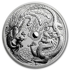 1oz australiano Dragon y Phoenix, Moneda De Plata Fina 999.9, 2017