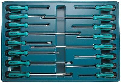 Screwdriver Set 7 Piece Signet S52471 Flat /& Phillips Yellow-Black Magnetic Tips