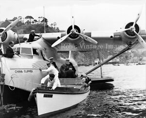 Pan Am Clipper B 314 Airplane Flying Boat /& Martin MB 130 at Honolulu  photo