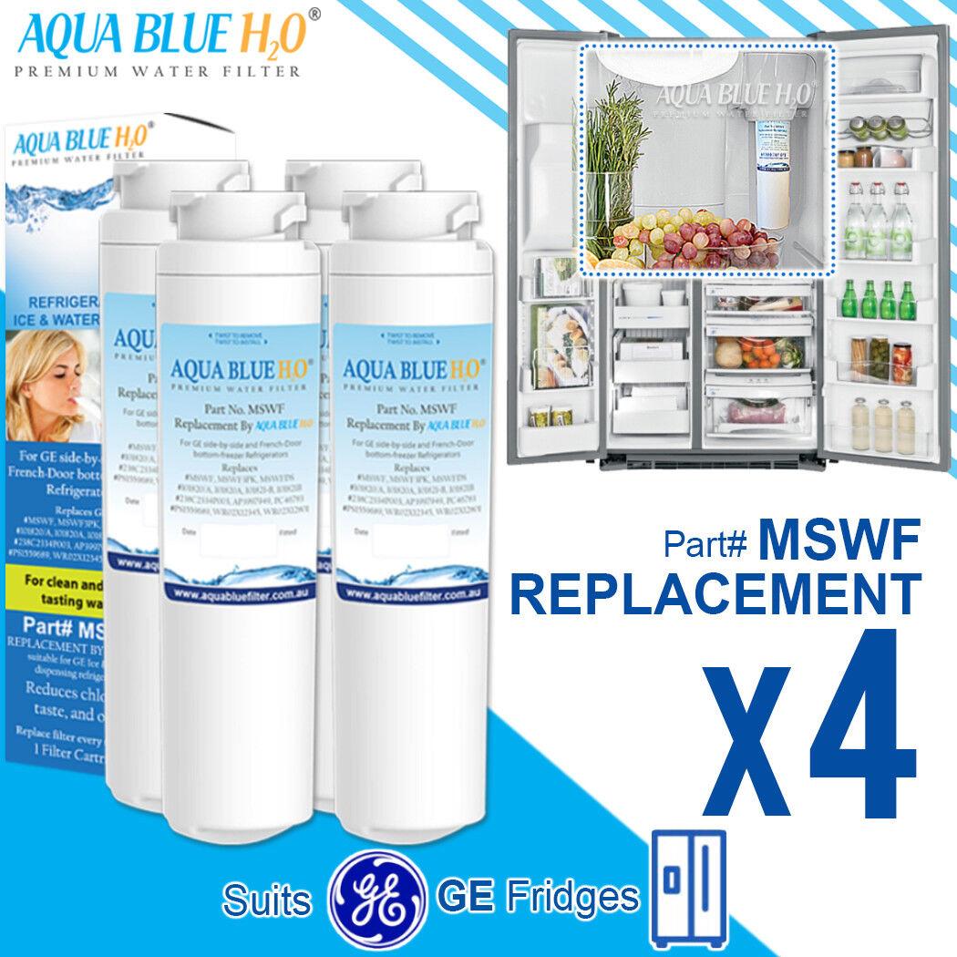 4 x GE MSWF Premium Compatible Fridge Water Filter Fits PCF23RGWA PCF25MGWA