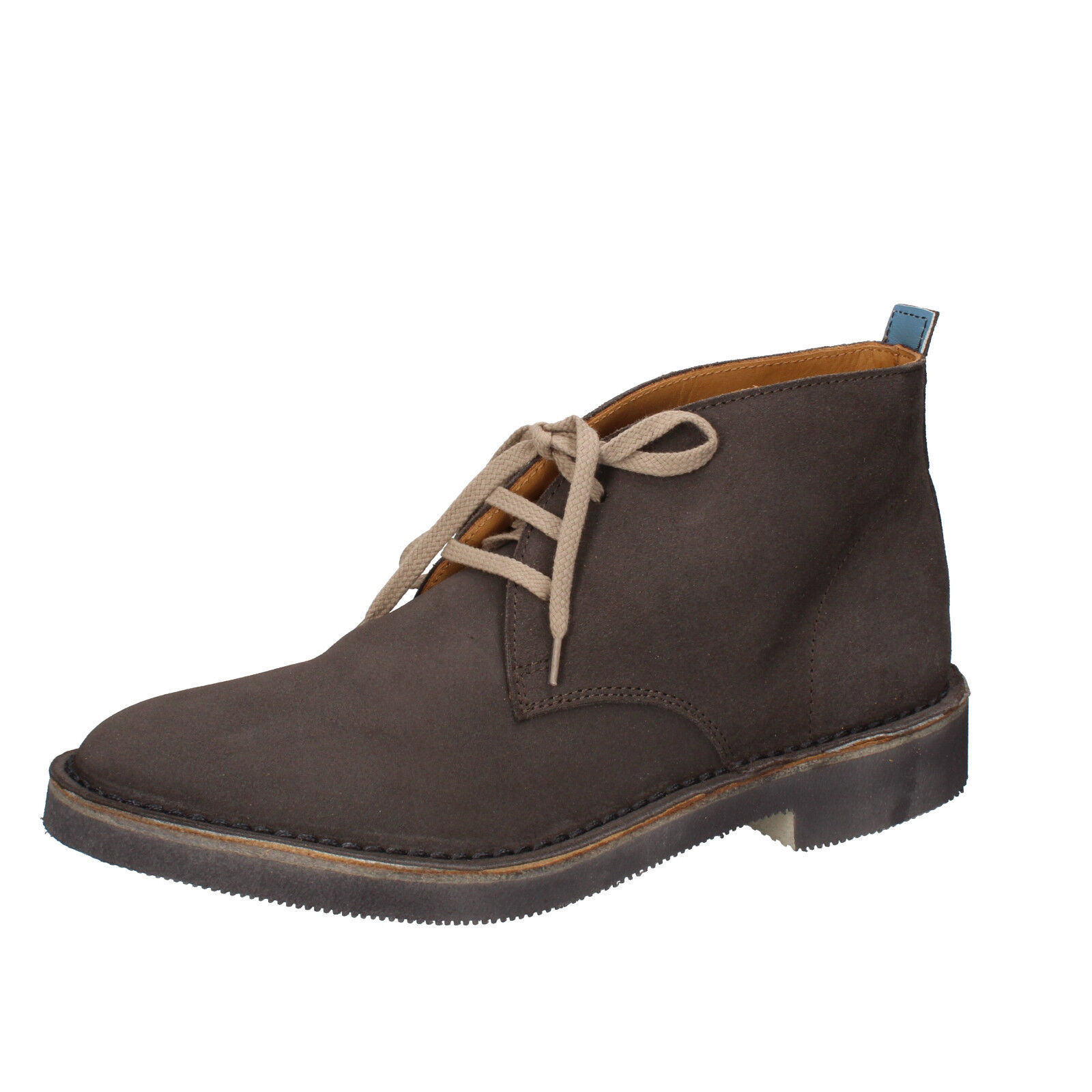 Mens shoes MOMA 9 () desert boots grey suede AB328-E