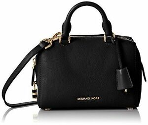 0eb33299b666 Michael Kors Kirby Large Black Leather Satchel 30t6gk3s3l for sale ...
