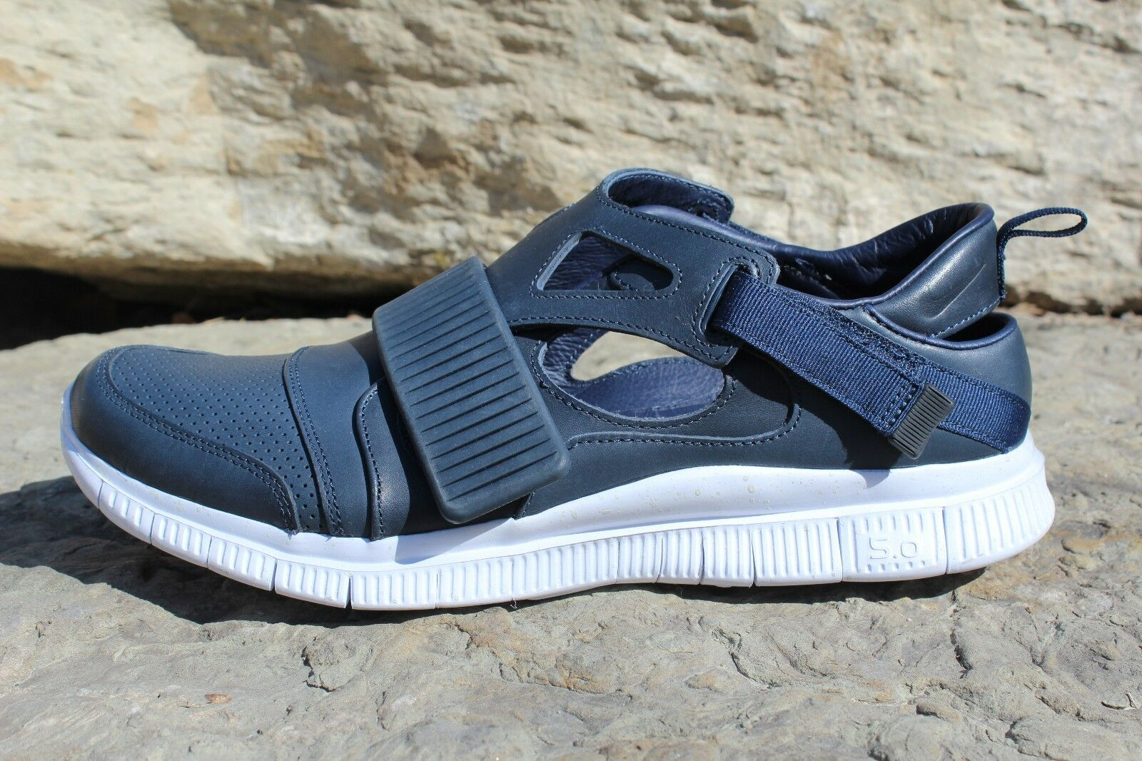 15 New Mens Nike Free 5.0 Huarache Carnivore SP 801759-413 Obsidian Blue Shoe 13