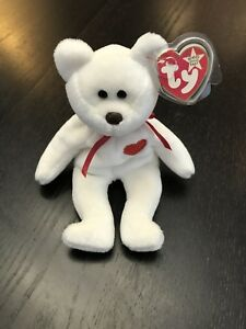 8355eb7bd23 Image is loading Valentino-bear-beanie-baby-TY-with-EVERY-error-