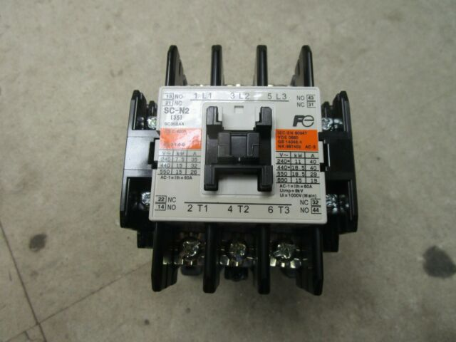 *PZB* FUJI ELECTRIC 200-220VAC COIL 26A MAGNETIC CONTACTOR 4NC0T0 SC-1N 26